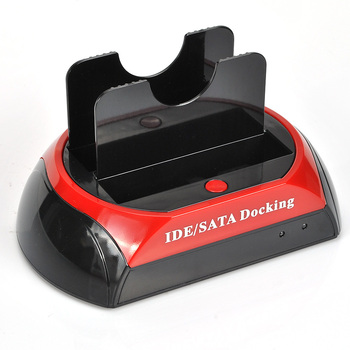 """Multi-function USB 2.0 2.5""""/3.5"""" SATA/IDE Hard Disk Drive HDD Twin Docking Station Cradle free shipping"""
