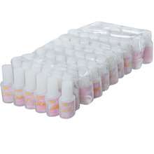 12pcs/Lot Tips Nail Art 10g BYB NAIL GLUE with brush For False French(China (Mainland))