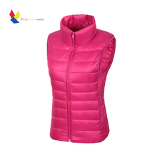 Vest Of Women Sleeveless Jacket Female Black Vest Women's Winter Veste Femme Ladies Waistcoat(China (Mainland))