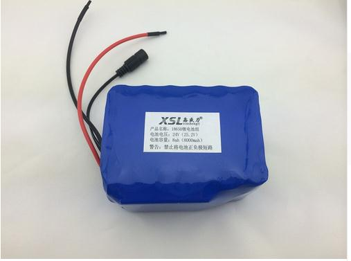 24V 8Ah 6S4P 18650 Battery lithium battery 24v electric bicycle moped /lithium ion battery pack+free shopping +1A charger(China (Mainland))