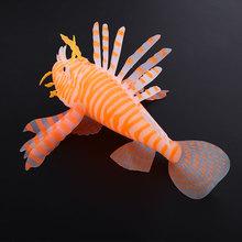 New Aquarium Fish Artificial Fake Lionfish Ornaments Flashing Beautiful Fishing(China (Mainland))
