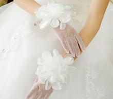 2015 Freie Größe neue Luxus neue Mode Applique kurze Spitze Braut Handschuhe Hochzeit Handschuhe Freies Verschiffen BB003(China (Mainland))