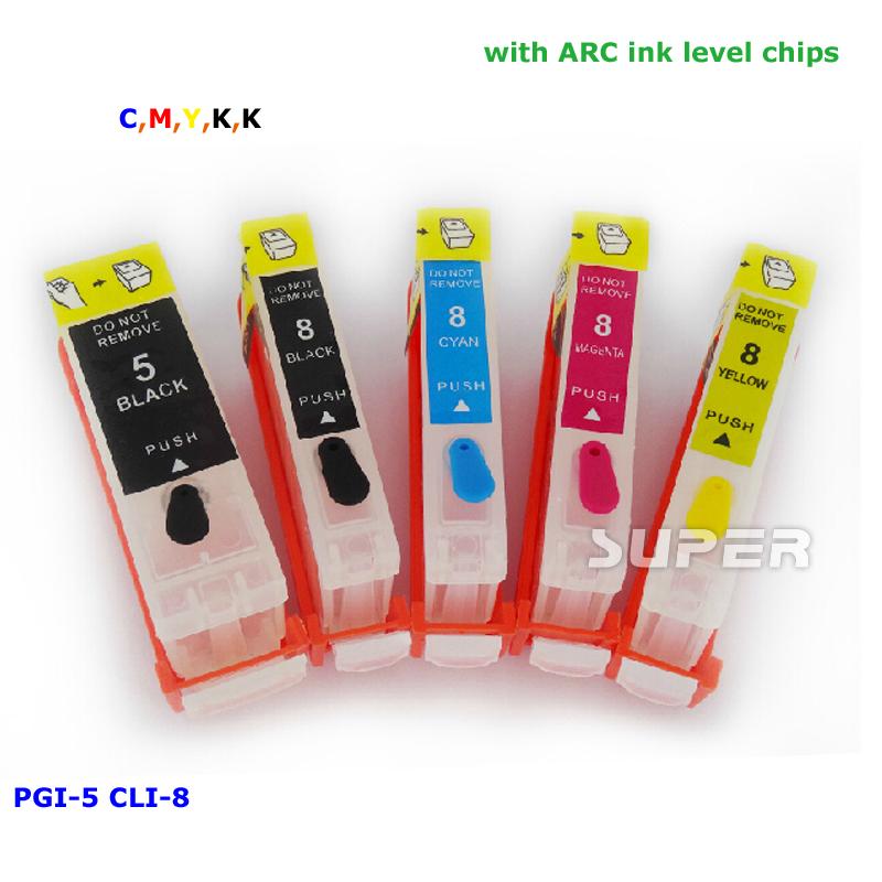 PGI-5 CLI-8 refill ink cartridges empty for Canon pixma IP4200 IP3300 IP4500 IX4000 IX5000 IP4300 MP970(China (Mainland))