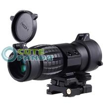3X Magnifier Quick Release Sniper Hunting Rifle Scope w/20mm Flip to Side Mount free shipping