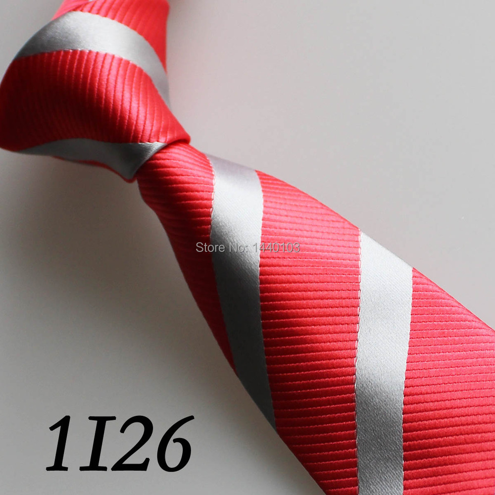 2015 Latest Style Ties Hot Pink/Silver Gray Striped Design/Casual Dress/Vogue/Party Dresses/Vestido/Gift For Men Necktie For Men(China (Mainland))