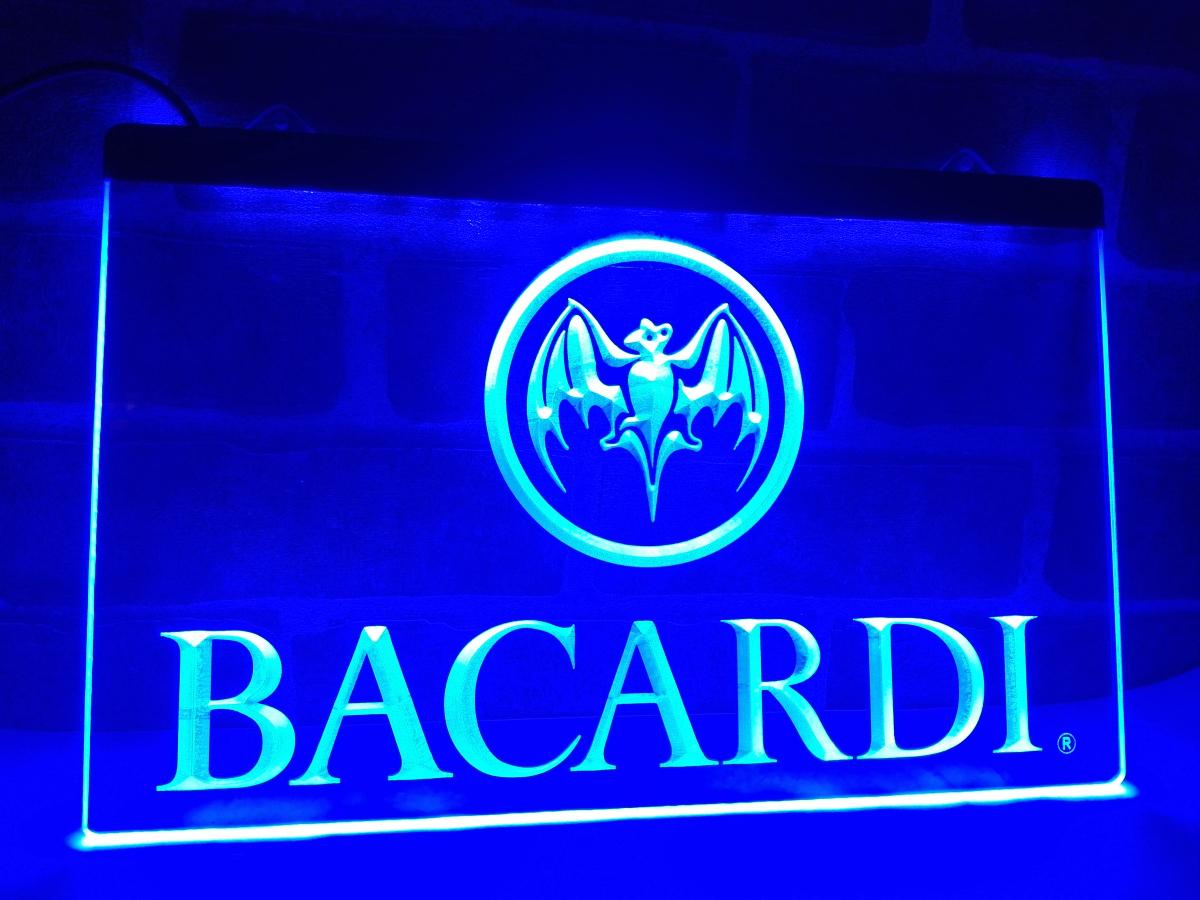 LA023- Bacardi Banner Flag LED Neon Light Sign home decor crafts(China (Mainland))