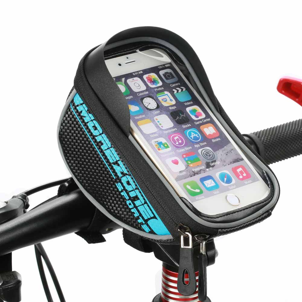 """MOREZONE Brand Mountain Road Bike Bag 1.7L Touchscreen Bicycle Bag Cycling Front Top Frame Handlebar Bag For 5.5"""" Cellphone(China (Mainland))"""