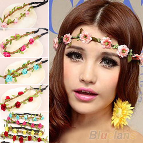 Boho Summer Style Floral Flower Women Girls Hairband Headbands Festival Party Wedding 8 Color 01NP 3SJA