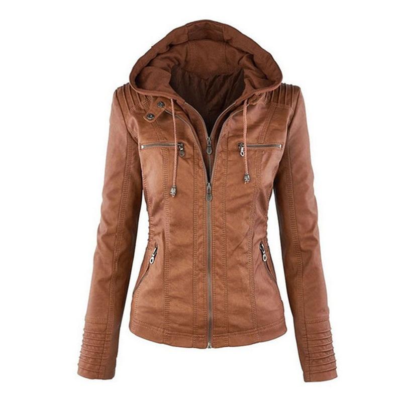 Popular Leather Jacket with Sweatshirt Hood-Buy Cheap Leather ...