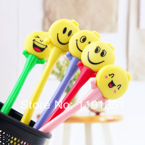 Free shipping 20pcs/lot  colorful cartoon smiling face Ballpoint Pen  creative flexible ballpen/Lovely gifts  fashion very funny<br><br>Aliexpress
