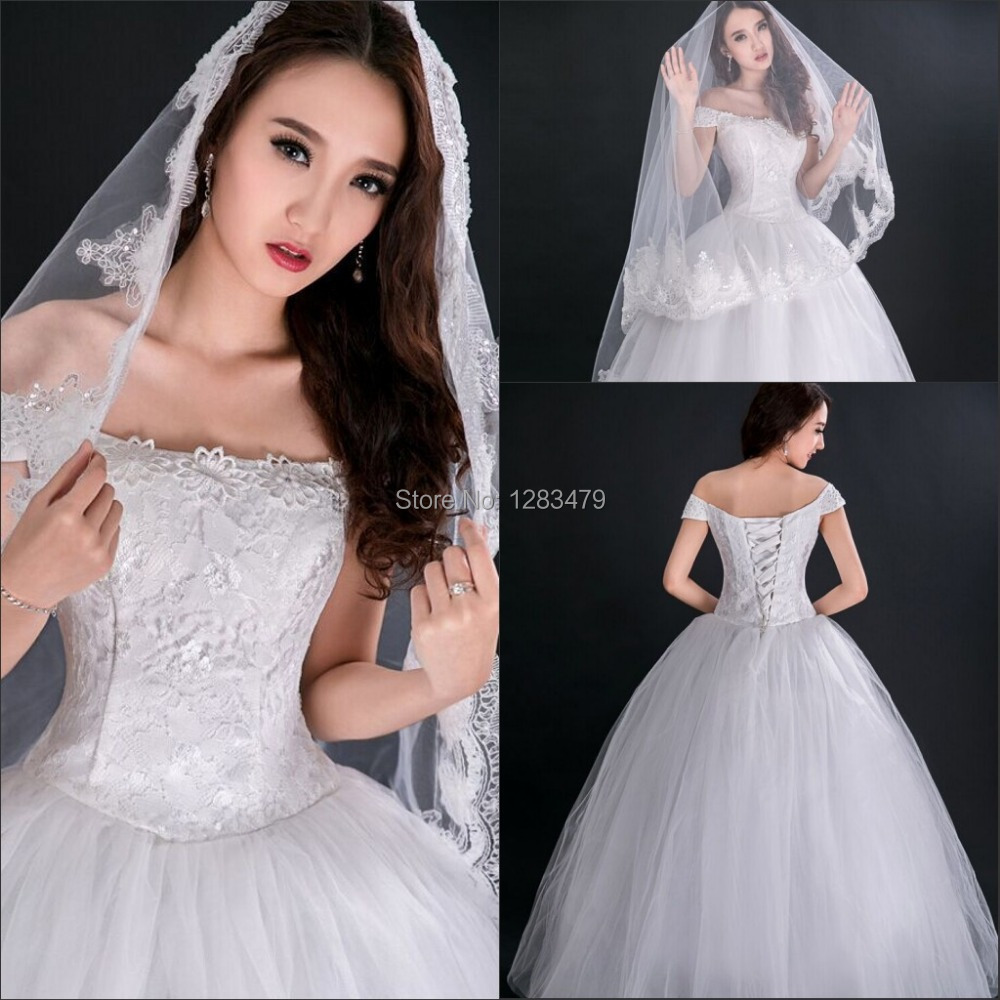 Hot sale white ball gown lace strapless cheap wedding for Cheap wedding dresses sale