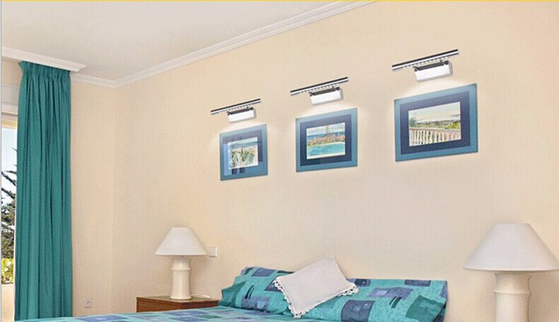 3W Bathroom LED Stainless Steel Wall Lamp Light SMD5050 Mini Style Warm White LED Modern Wall Lamps Light Fixture lampada de led