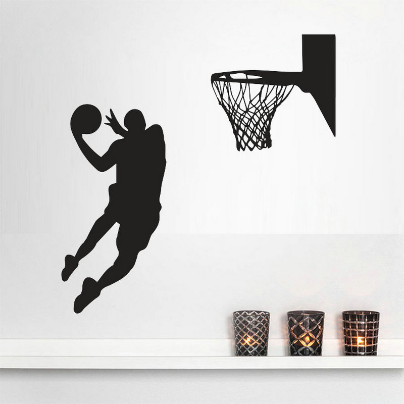 Wall Poster DIY 3D Stairs Creative Boy Room MichaelJordan Wallpaper Printing Wall Stickers Art Poster Home Decor b346(China (Mainland))