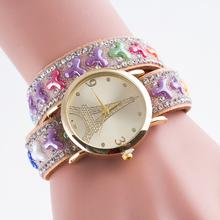 New arrival relojes mujer quartz watch students watch,women's bracelet pearl jewelry watch.lady Eiffel Tower women digital watch