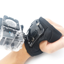 Hig Quality Gopro Accessories Glove-style Wrist Hand Mount Strap Holder For Go Pro Hero 4/3+/3/2/1 Xiao mi Yi SJ4000 Wholesales(China (Mainland))