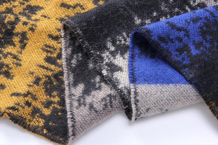 Winter New Hot Tartan Scarf Desigual Gradient Color Cuadros New Luxury Brand Unisex Blanket Shawls Pashmina Women's Scarves 32D