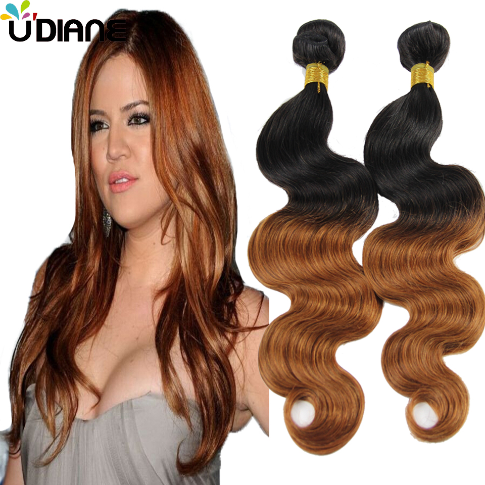 Ombre Body Wave Mongolian Hair Weave 3PCS #30 Medium Auburn Ombre Hair Extensions Two Tone Brown Ombre Remy Hair Weave 2BD61<br><br>Aliexpress