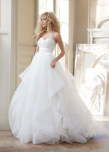 Buy Wedding Dress Elegant Simple Strapless White Sweetheart Long Tulle Backless Brides Gowns Ball Gown Vestido De Novia Dresses for $201.03 in AliExpress store