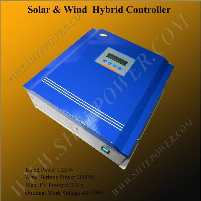 2000w 48v 96v wind solar charge controller with LCD Display(China (Mainland))