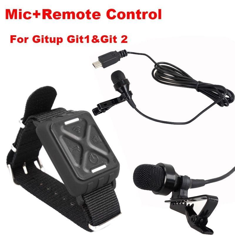 Free Shipping!Microphone Mic+Wrist Wifi Remote Control For Gitup Git1 Git2 Novatek 96660 WiFi 2K Sports Helemet Action Camera<br><br>Aliexpress