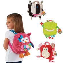 Baby Backpack Toddler Child Cartoon Plush Backpack Animal School bags For Girls Kids Shoulder Bag For Children 2015 BYC025 PT50(China (Mainland))