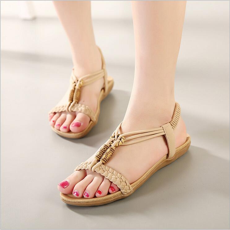 online kaufen gro handel perlen flachen sandalen aus china. Black Bedroom Furniture Sets. Home Design Ideas