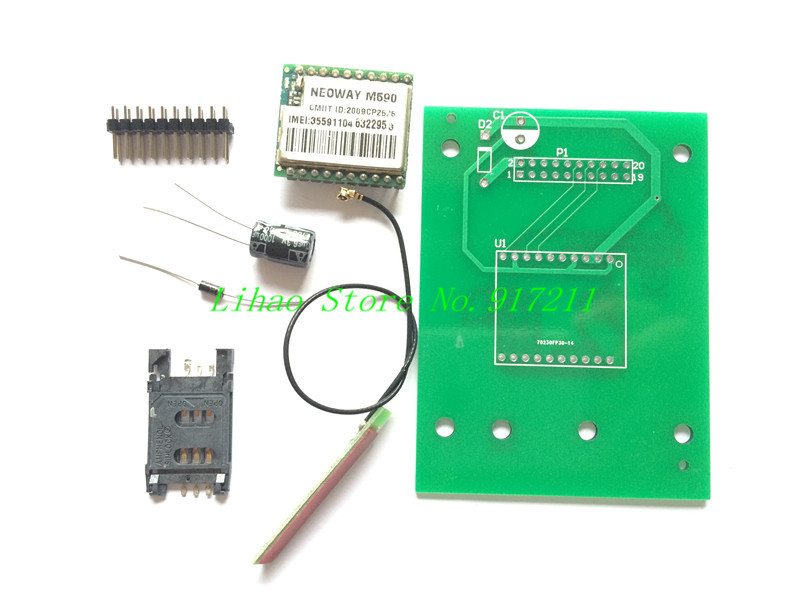 10pcs/lot DIY KIT GSM GPRS 900 1800 MHz Short Message Service SMS module for project for Arduino remote sensing alarm(China (Mainland))