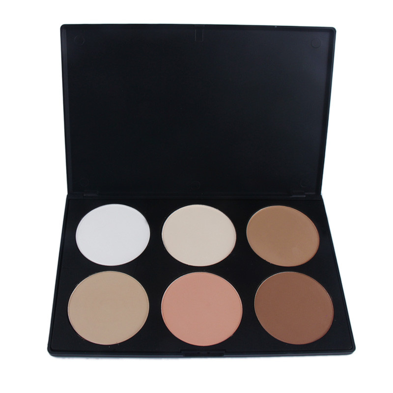 Make up, Pro 6 Colors Neutral Warm Eyeshadow Palette Eye Shadow Make up Women Men Cosmetics Shadow Overmal 2017 New Wholesale(China (Mainland))