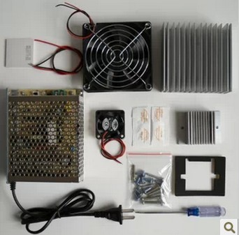 cooling system learning packages Thermoelectric Cooler Peltier TEC1-12706 kit Cold plate refrigeration space cooling study kit(China (Mainland))