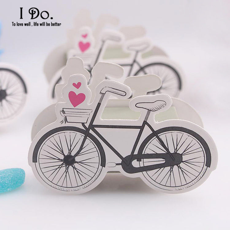Free Shipping 10pcs Cute Bicycle Wedding Favor Boxes Wedding Candy Box Casamento Wedding Favors And Gifts Event & Party Supplies(China (Mainland))
