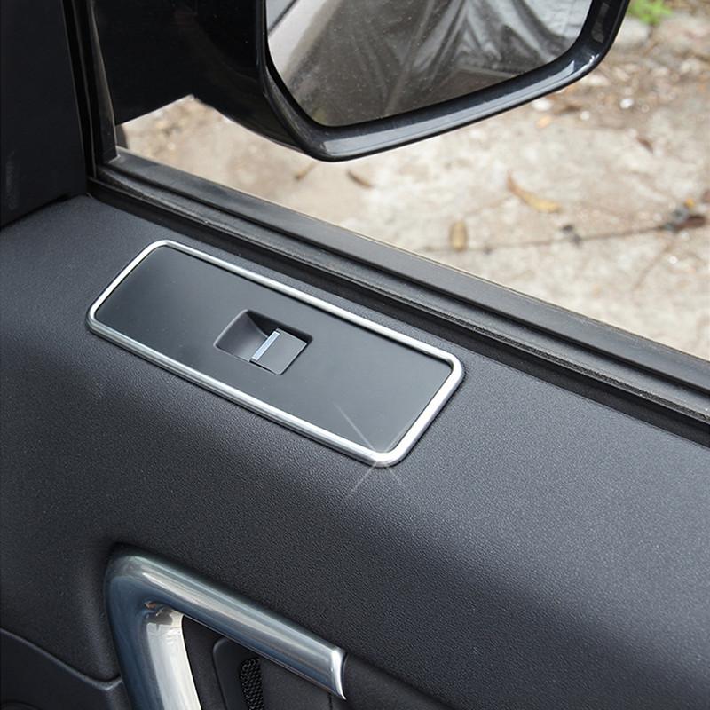 Купить Хром Внутренняя Дверь Стеклоподъемника Кнопка Крышка Накладка Для Land Rover Discovery Спорт 2015 Автомобильные Аксессуары Бесплатная Доставка