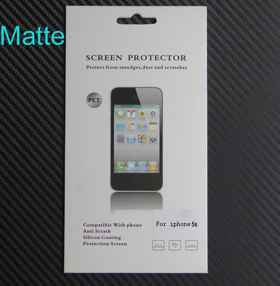 2000 Sets High Quality Matte Screen Protector For iphone 5 5S 5C Anti Glare 4 inch Front Film Screen Guard With Retail Package(China (Mainland))