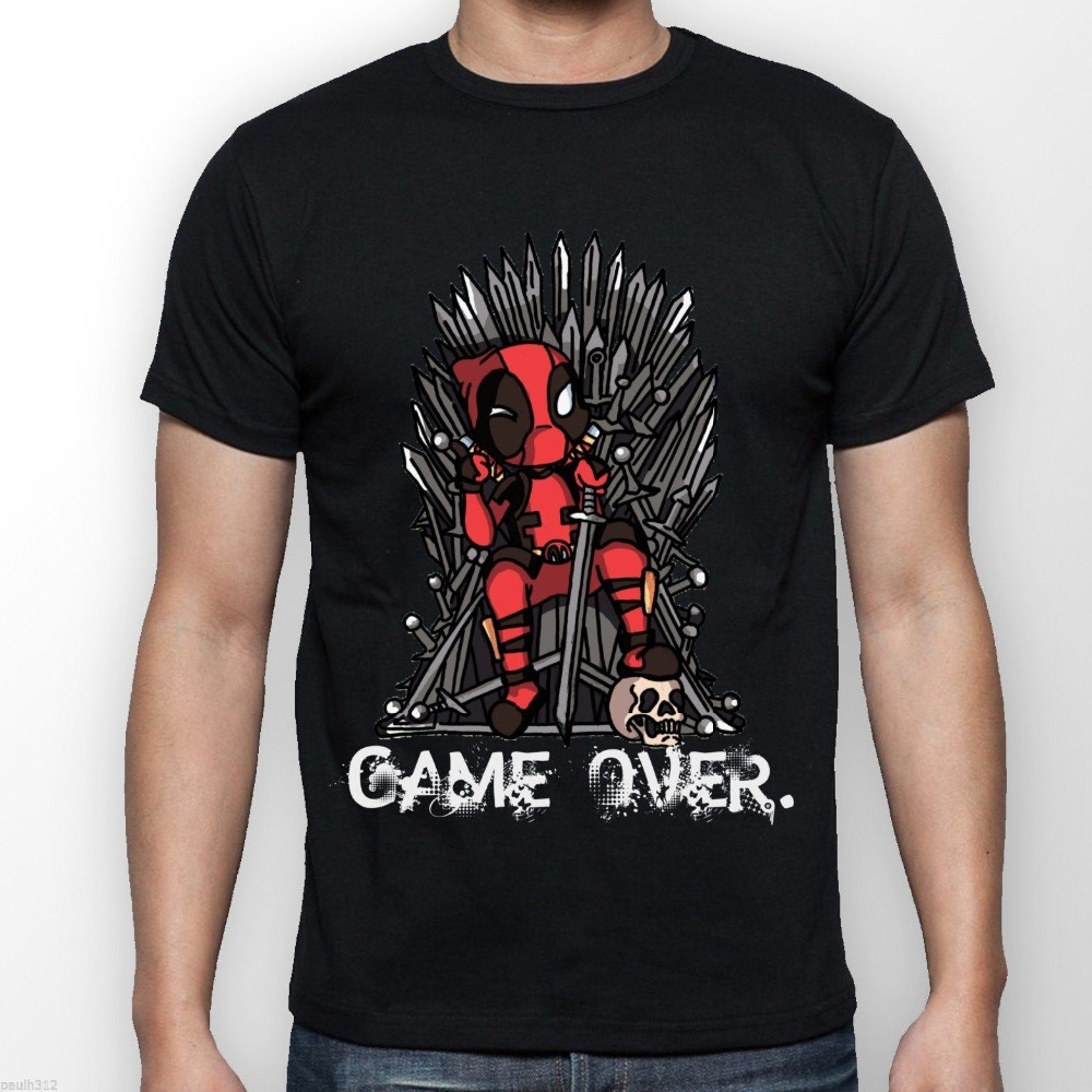 deadpool vs game of thrones custom t shirt man harajuku short sleeve hipster top tee shirt men 39 s. Black Bedroom Furniture Sets. Home Design Ideas