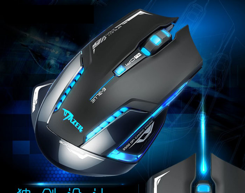Гаджет  E-3lue 6D Mazer II 2500 DPI Blue LED 2.4GHz Wireless Optical Gaming Game Mouse Computers Mouse Gamer USB Receiver PC Laptop A19 None Компьютер & сеть