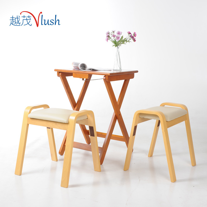 Mao Import More Wood Folding Table Portable Small Dining
