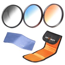 3pcs 52mm Graduated Color Lens Filter Kit Set For Nikon D5200 D5100 D3200 D3100 18-55mm DSLR Digital Camera