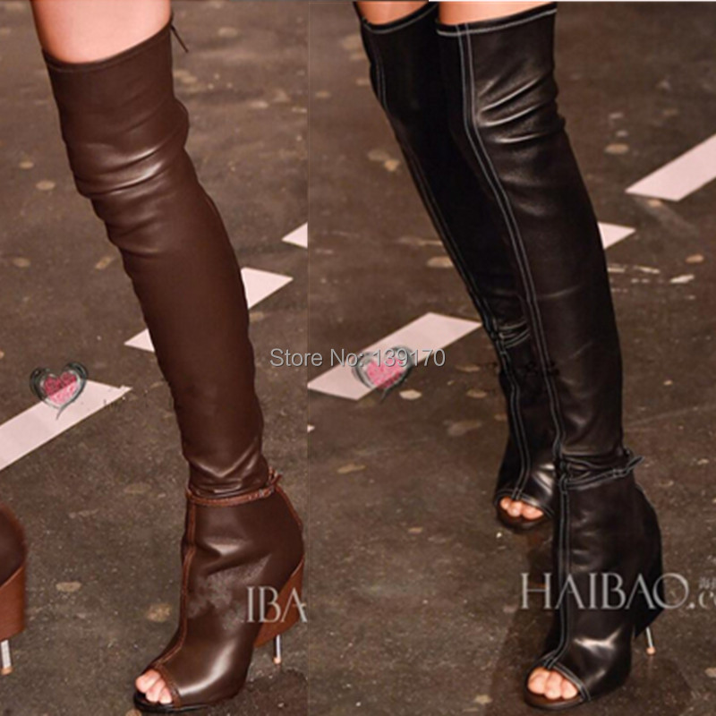 aliexpress buy black coffee thigh high boots