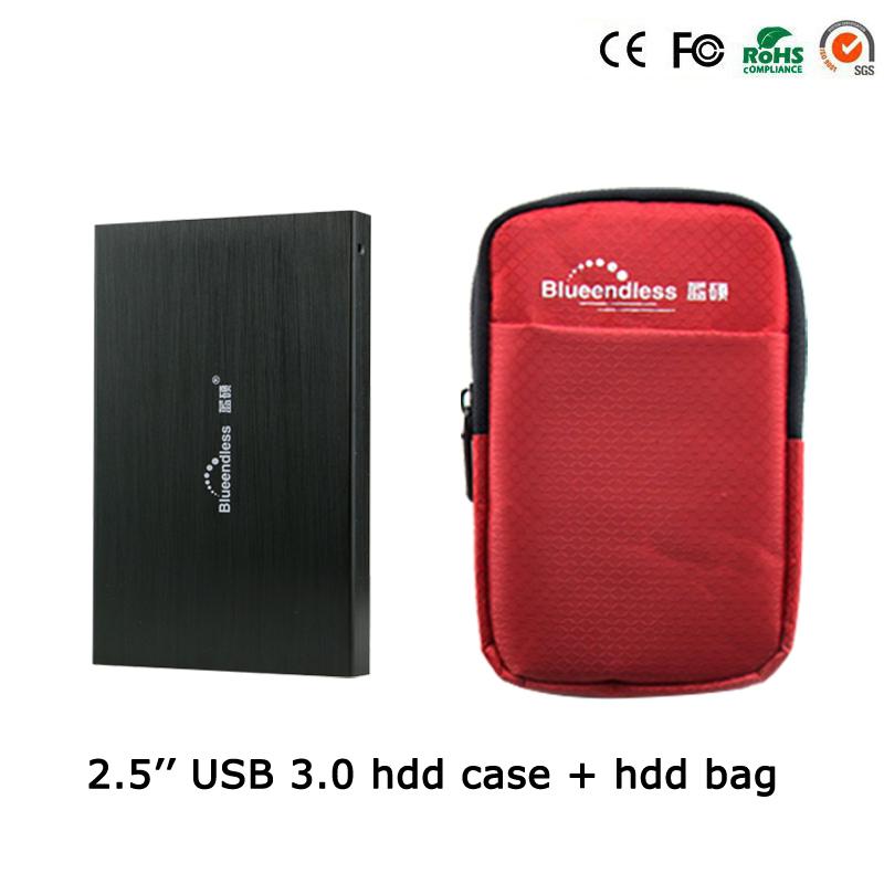 1Set External Hard Drive Accessory(2.5'' HDD Case+ 5'' Hdd Bag)Protect 2.5Inch hdd sata to USB 3.0 hdd Enclosure tool U23YA+25BB(China (Mainland))