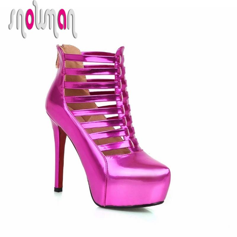 Woman Summer Shoes Women's Shoes Women Boots Sexy Cutouts Summer Boots Ankle Boots Thin High Heels Platform Red Bottom Shoes