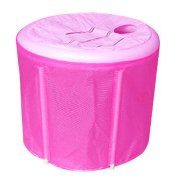 70 * 70 sponge bottom + lid send pump folding tub folding bathtub bathing bucket bath barrel