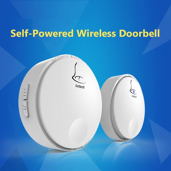 Linbell G2 Waterproof IPX7 Self-powered No Battery Wireless Door Bell Remote Control Distance Outdoor 100m Indoor 300m(China (Mainland))