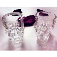 Hot Sales New Crystal Skull Head Vodka Whiskey Shot Glass Cup Drinking Ware Home Bar Cup Mug(China (Mainland))