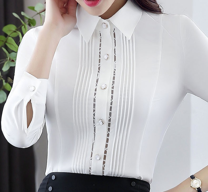 Novelty White Fashion Slim Formal OL Styles Professional Spring Autumn Work Suits With 2 Piece Tops And Blouses Beauty Salon Set