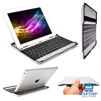 Cute Black Free Shipping + Slim Aluminum Bluetooth Wireless KeyBoard Stand Case Cover For iPad 2 3 4