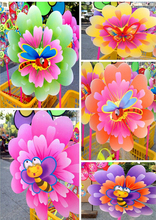 Children's toy  Colorful peony PVC windmills toy(China (Mainland))