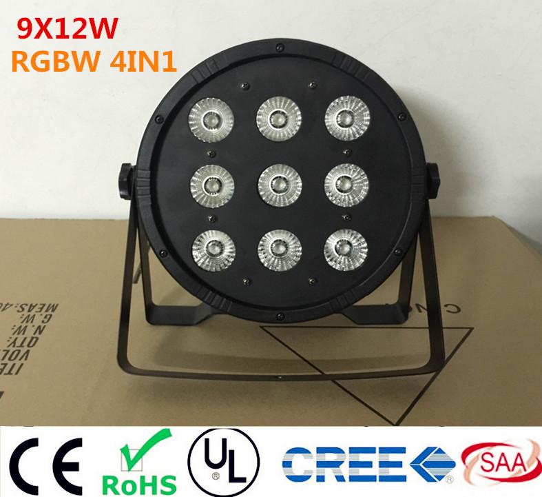 Здесь можно купить   9x12W  LED Flat SlimPar Quad Light  RGBW 4in1 LED DJ Wash Light Stage Uplighting No Noise  Свет и освещение