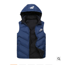 Free shipping in the fall and winter of 2014 hooded sports leisure vest men with high quality cotton vest the trend of fashion(China (Mainland))