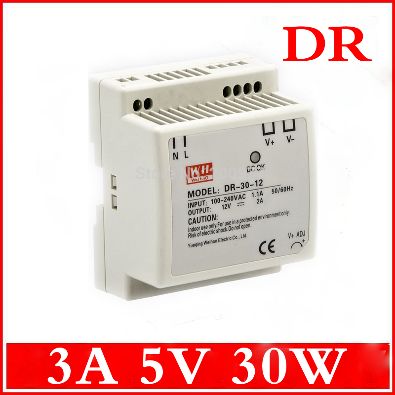 30W 5V 3A Din Rail Single Output Switching power supply AC TO DC<br><br>Aliexpress