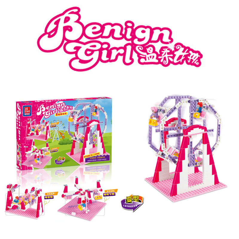 JIE-STAR 33006 benign girls Girl ferris wheel friend Set Building Blocks Set Model Bricks Toys birthday gift for Girls Toys(China (Mainland))