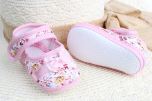 spring autumn Girls flowers bow baby toddler shoes children footwear first walkers size 11cm 12cm 13cm